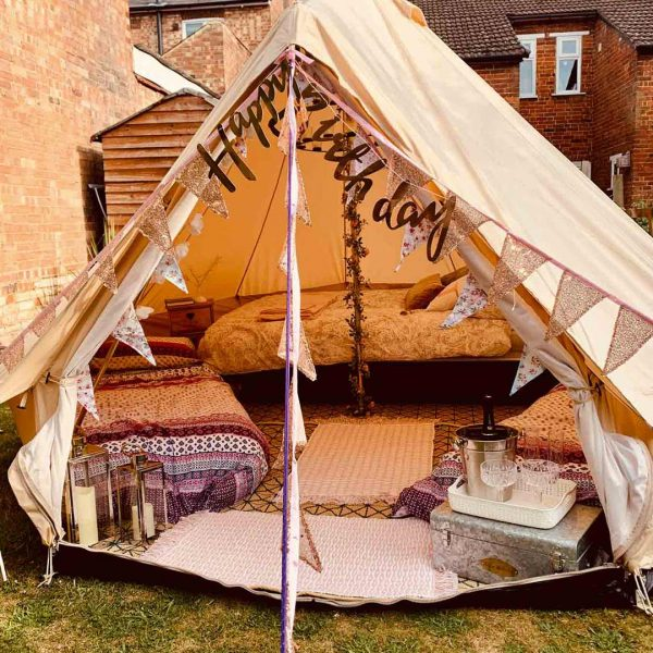 4 Metre Bell Tent Glamping 4m tent 1 square