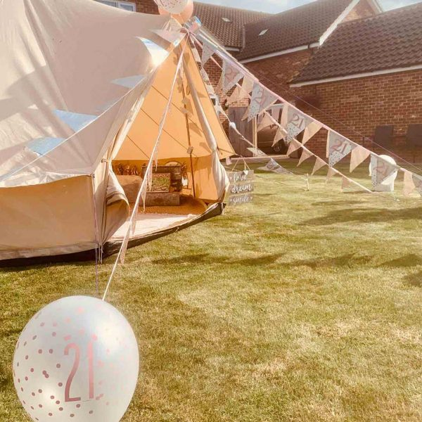4 Metre Bell Tent Glamping 4m tent 3 square
