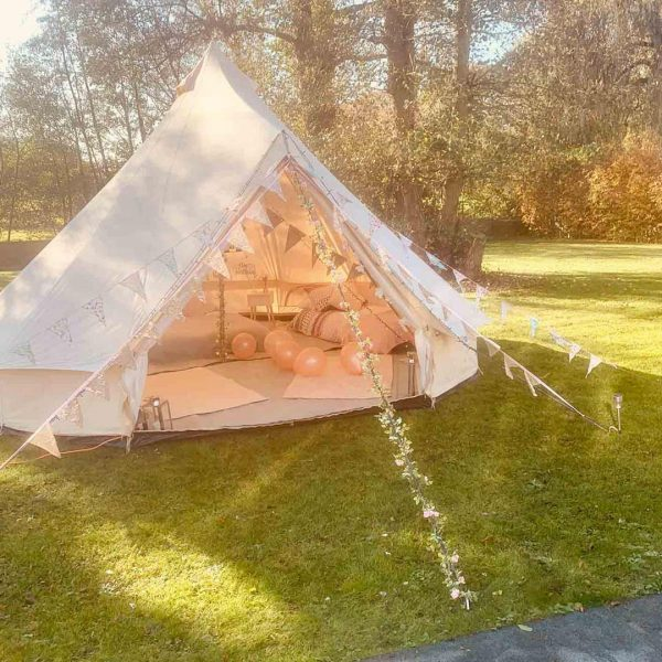 5 Metre Bell Tent Glamping 5m tent 1 square