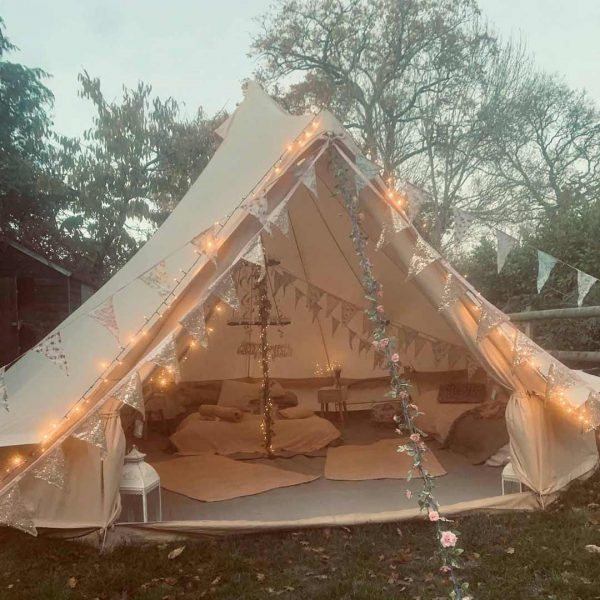 5 Metre Bell Tent Glamping 5m tent 3 square