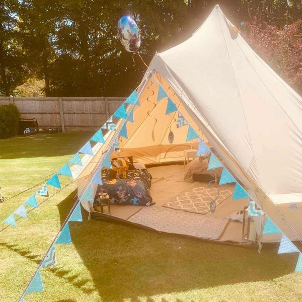 5 Metre Bell Tent Glamping 5m tent 4 square