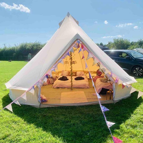 5 Metre Bell Tent Glamping 5m tent 6 square