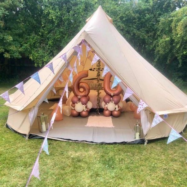 5 Metre Bell Tent Glamping 5m tent 8 square