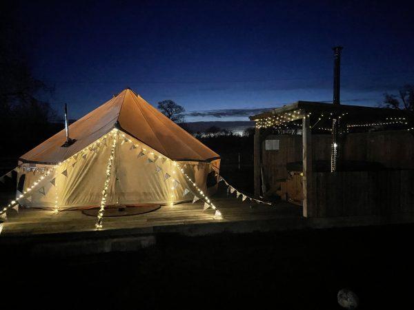 Taittinger Luxury Bell Tent Glamping image2 scaled