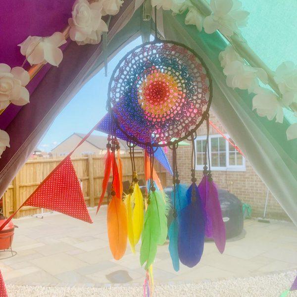 5 Metre Rainbow Bell Tent Glamping rainbow tent 2