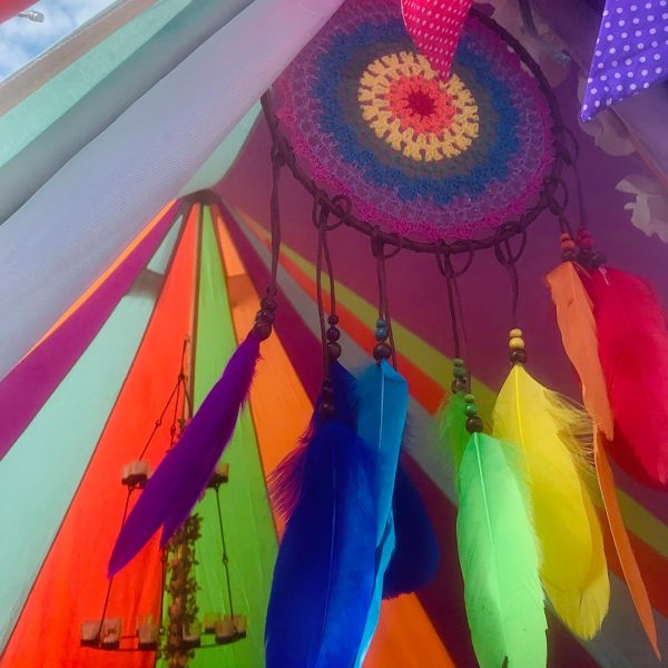 5 Metre Rainbow Bell Tent Glamping rainbow tent 3