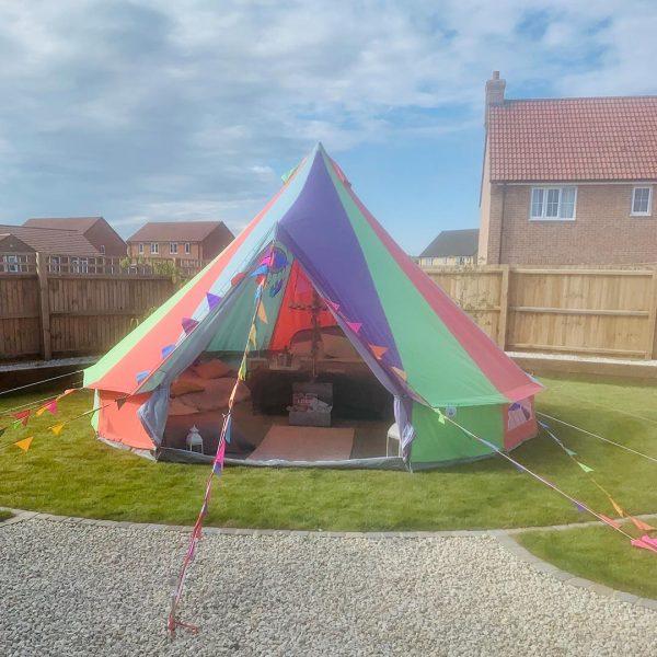5 Metre Rainbow Bell Tent Glamping rainbow tent 4