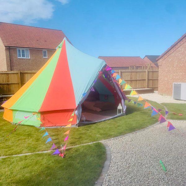5 Metre Rainbow Bell Tent Glamping rainbow tent 5