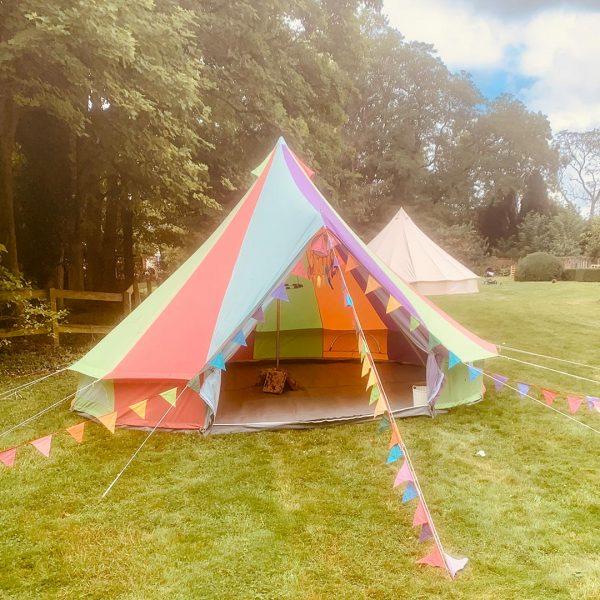 5 Metre Rainbow Bell Tent Glamping rainbow tent