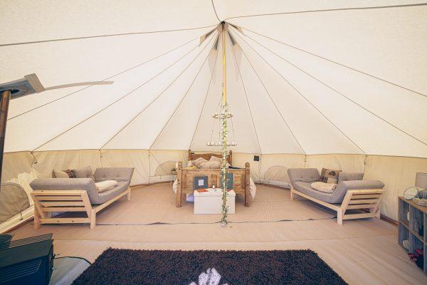 Taittinger Luxury Bell Tent Glamping GlampTipple 23 scaled