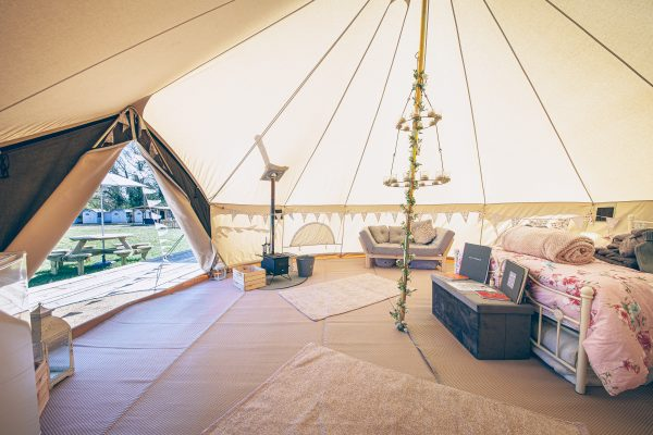 Moet Luxury Bell Tent Glamping GlampTipple 6 scaled